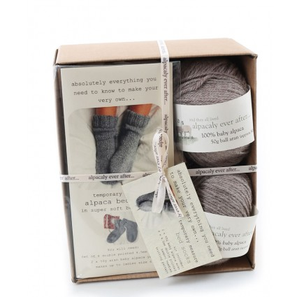 Alpaca Bed Socks Knitting Kit