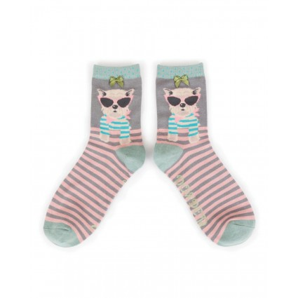 Powder Bamboo Westie Socks