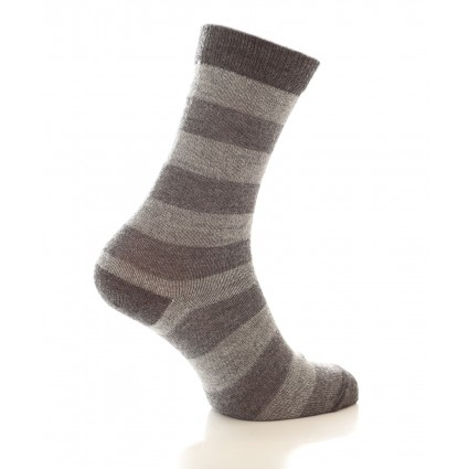 Alpaca Stripey Socks Grey
