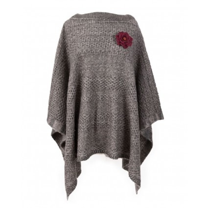Powder Sophie Poncho Charcoal Grey