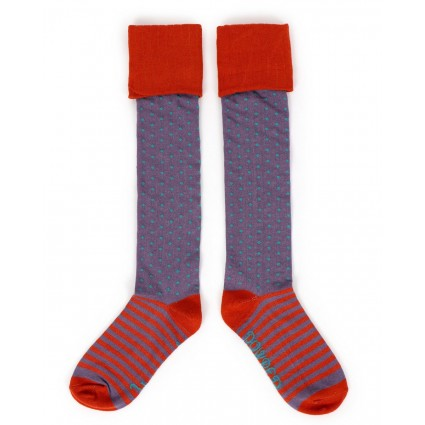 Powder Bamboo Spot Boot Socks Lavender
