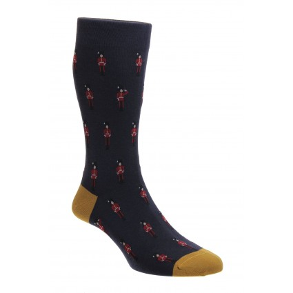 Pantherella St James Queen's Guards Socks Navy