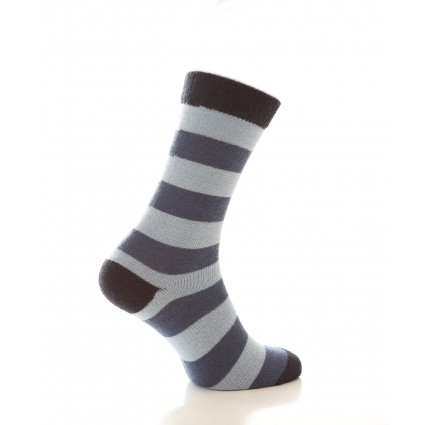 Alpaca Stripey Socks Blue