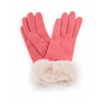 Powder Tamara Wool Gloves Coral