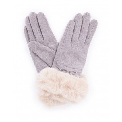 Powder Tamara Wool Gloves Slate Grey