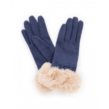 Powder Tamara Wool Gloves Navy