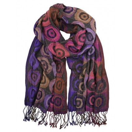 Artisan Route Hand Woven Silk Scarf Purple Target