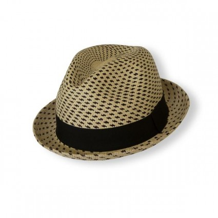 Borges And Scott Panama Trilby Hat Striped