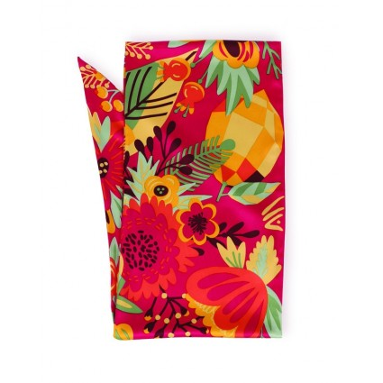 Powder Tropical Satin Necktie Scarf