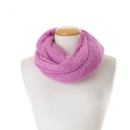 Baby Alpaca Snood Pink