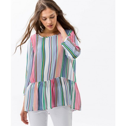 Brax Vaila Striped Peplum Blouse