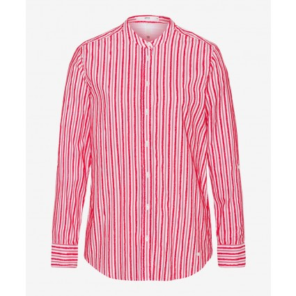 Brax Victoria Striped Shirt Red
