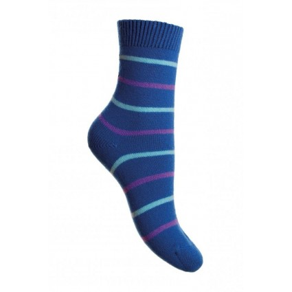 Cashmere Serena Stripey Socks Turquoise
