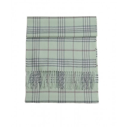 Royal Baby Alpaca Scottish Woven Scarf Jade Green