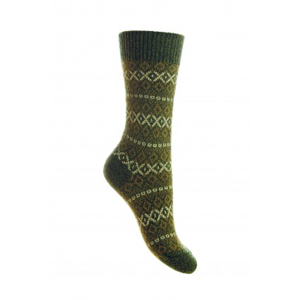 Pantherella Ladies Figsbury Wool Socks Forest Green