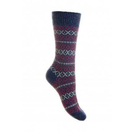 Pantherella Ladies Figsbury Wool Socks Denim Blue