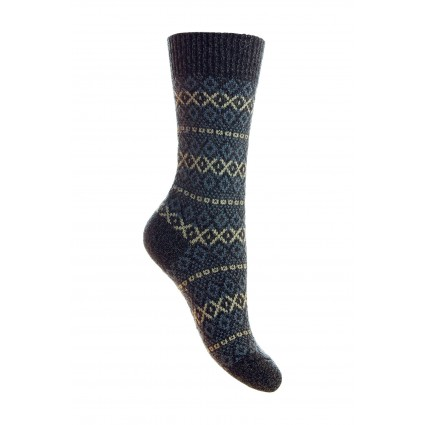 Pantherella Ladies Figsbury Wool Socks Charcoal