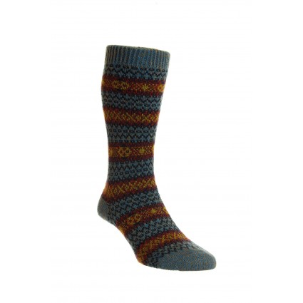 Pantherella Mens Felbrigg Wool Socks Petrol