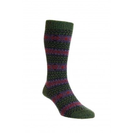 Pantherella Mens Felbrigg Wool Socks Forest Green