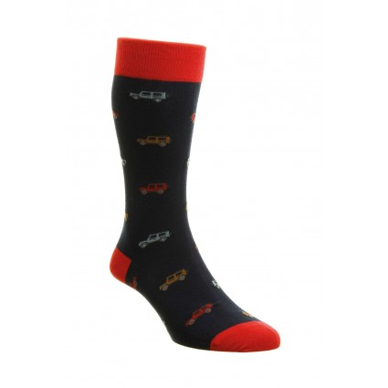 Pantherella Mens Longshaw 4x4 Cotton Socks Navy