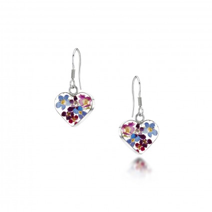 Shrieking Violet Purple Haze Heart Drop Earrings