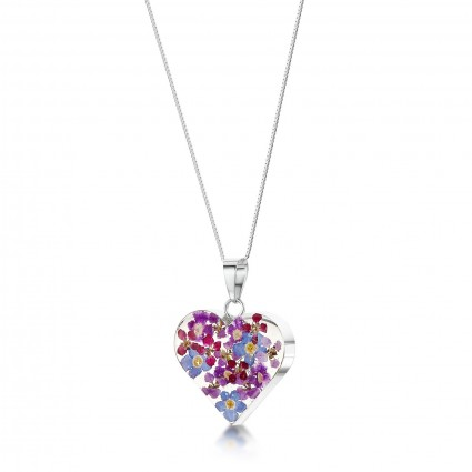 Shrieking Violet Sterling Silver Heart Necklace Purple Haze