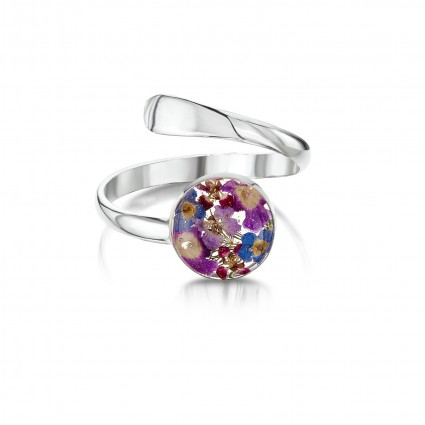 Shrieking Violet Sterling Silver Adjustable Ring Purple Haze