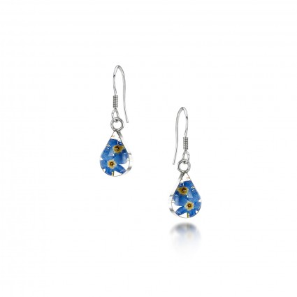 Shrieking Violet Sterling Silver Teardop Earrings Forget Me Not