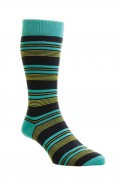 Pantherella Mens Solitaire Cotton Socks Turquoise