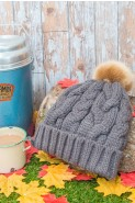 Powder Freda Cable Knit Pom Pom Hat