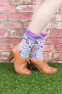 Powder Bamboo Ankle Socks Pansy Mint