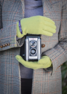 Powder Wool Gloves Lime Green