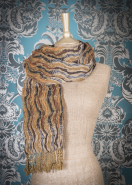 Powder Scarf Brown Mix