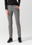 Brax Mills Jersey Super Slim Trousers Black & White