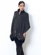 Alpaca Damask Dolman Zipper Jacket