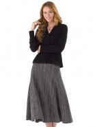 Artisan Route Alpaca Sandra Swing Midi Skirt Black Mix