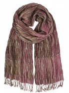Hand Woven Silk Scarf Tiger Pink
