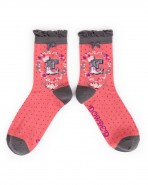 Powder Bamboo Alphabet Socks E