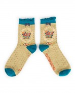 Powder Bamboo Alphabet Socks W