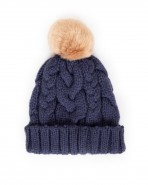 Powder Charlotte Pompom Hat Navy