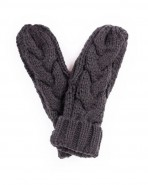 Powder Charlotte Mittens Charcoal Grey