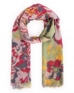 Powder Floral Pea Green Scarf