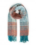 Powder Maggie Checked Scarf Teal