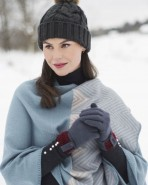 Powder Monica Wool Gloves Charcoal
