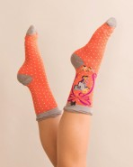 Powder Bamboo Alphabet Socks F