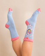 Powder Bamboo Alphabet Socks O