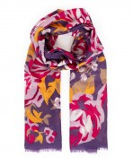 Powder Autumn Roses Scarf