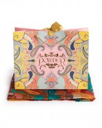 Powder Satin Paisley Scarf Berry