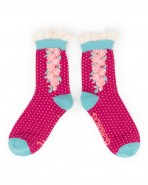 Powder Bamboo Ankle Socks Climbing Rose