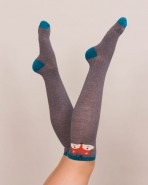 Powder Fox Bamboo Knee Socks Slate